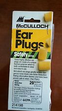 McCulloch Ear Plugs  Safety  series