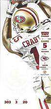 2014 NFL KC CHIEFS @ SF 49ERS UNUSED FOOTBALL TICKET - FIRST YEAR AT LEVI