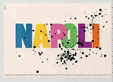 1984 Alan Fletcher signed NAPOLI A Statement Against Pollution Pentagram POSTER