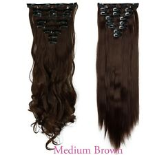 Real Thick Full Head Clip In Hair Extensions Long 8 Pieces Hair Extentions Pro