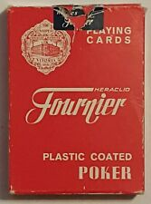 Napes Heraclio Fournier Vitoria Plastic Coated Poker Playing Cards Made in Spain