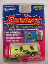 1971 Barracuda Race Car Neon Yellow 1996 Playing Mantis Sizzlers New PKG Rare