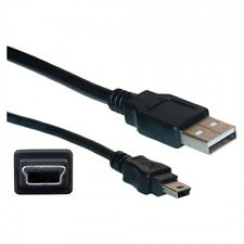 MINI USB 1m 2.0 Cable Lead Type A to 5 Pin B Phone Sat Nav HDD Black
