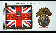 Royal Inniskilling Fusiliers   Insignia  Original 1930 Vintage Card