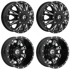 17x6.5 Fuel Dually Throttle D513 8x210 129/-129 Black Milled Wheel Rim set(4)