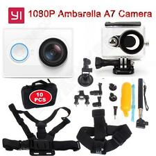 1080P White XiaoMi Yi WIFI Sports Action Cam+Accessories Kit+Waterproof Case