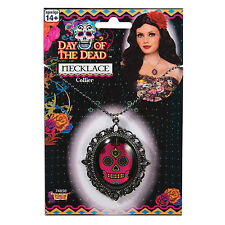 THE DAY OF THE DEAD NECKLACE MEXICAN FESTIVAL HALLOWEEN ACCESSORY