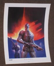 "Mass Effect Saren Lithograph Unsigned 16"" x 12"" Limited Rare 1 2 3 Official"