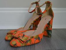 JCrew Collection $258 Lena Ankle-Strap Pumps Ratti Fruity Floral Print Heels 8.5