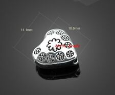 Wholesale NEW 20pcs Tibetan Silver Heart flowers Spacers Beads 11x10mm