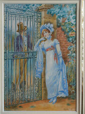 WILLIAM JOHN HENNESSY ROI 1839-1917 ORIGINAL SIGNED PAINTING: THE COURTSHIP 1914