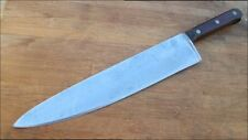 "HEAVY DUTY Vintage 17"" Hand-forged Carbon Steel Chef Knife - RAZOR SHARP"