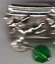 1 Angel Dangle Birthstone May 9MM Stainless Steel Italian Charm