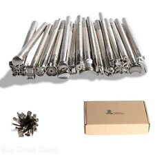 Arts Craftool Stamps Leather Working 20 PCS DIY Punching Metal Tools Creative