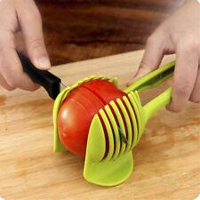 Cuisine Fruit Slicer Holder Légume Tomate Clip Lemon Potato Oignon outil de coup