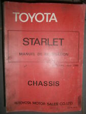 Toyota STARLET 1981 KP6 chassis : MANUEL DE REPARATION