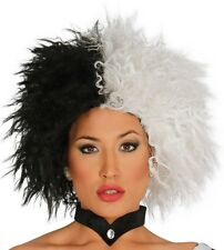 DALMATIAN LADY WIG EVIL DOG LOVING DIVA CRUELLA HALLOWEEN FANCY DRESS