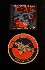 USAF Lockheed F-22 and F-35 Fifth Generation Fighter Patches Raptor JSF
