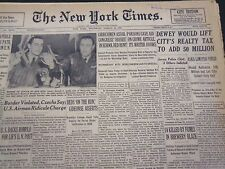 1953 MARCH 12 NEW YORK TIMES - DEWEY WOULD LIFT CITY'S REALTY TAX - NT 4463