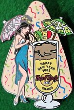 Hard Rock Cafe ORLANDO 2003 Happy New Year PIN Mai-Tai Cocktail Sexy PARTY Girl
