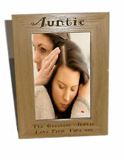 Auntie Wooden Photo Frame 4x6 - Personalise This Frame - Free Engraving