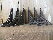 Lot 6 Eastlake-Style RUSTIC Cast Iron SMALL 4 x 5 Shelf SHELVING BRACKETS
