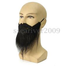 Black Costume Party Male Man Halloween Beard Facial Hair Professional Disguise