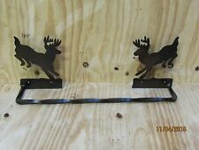 "Deer Jumping Towel Bar Sm. 18"" Western Rustic Cabin Home  Bathroom Decor"
