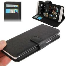 COVER CUSTODIA FLIP CASE PER HTC ONE M7 801N PELLE STAND+SLOT 2CARTE CREDITO