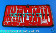 24 US Military Field Style Medic Instrument Kit - Medical Surgical Nurse