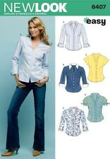 NEW LOOK SEWING PATTERN MISSES' SHIRTS TOPS SIZE 10 - 22 6407
