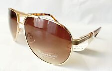 NWT TAHARI TH511 100% Authentic AVIATOR Brown Gold Sunglasses Gradient /372/ New