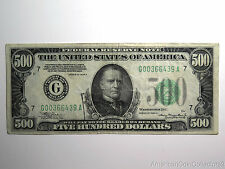 1934-A $500 Five Hundred Dollar Federal Reserve Note Bill Fr. 2202-G | 6889 |