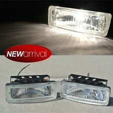 "Fit Camry 5 x 1.75"" Square Bumper Driving Clear Fog Light Lamp Switch & Harness"