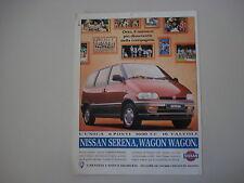 advertising Pubblicità 1995 NISSAN SERENA