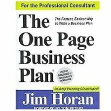 The One Page Business Plan for the Professional Consultant, Jr. Foreword by Tom