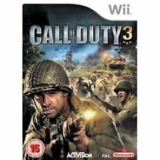 CALL OF DUTY 3 - NINTENDO Wii - PAL UK + EUROPE - Wii U COMPATIBLE