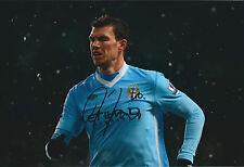 Edin DZEKO SIGNED COA Autograph 12x8 Photo AFTAL Man City Premier League