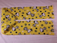 Snoopy on Yellow Fleece Scarf
