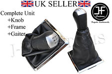 FOR FORD FOCUS MK2 II 04-11 5 SPEED KNOB + GEAR GAITER SHIFT BOOT + SILVER FRAME