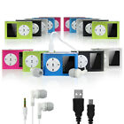 Mini MP3 Player With LCD Display, FM Radio + USB Charging Cable + Earphone