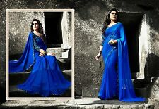 Blue Colour Best Selling New Fancy Bollywood Designer Georgette Saree&Blouse