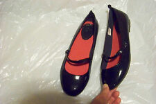 new womens gap blue patent mary jane flats shoes size 5