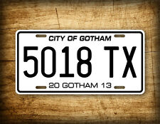 Batman CITY OF GOTHAM License Plate Dark Knight Replica Movie Auto Tag Batmobile