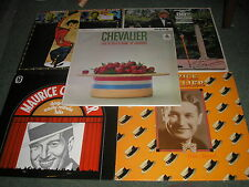 LOT OF 5  LP'S-MAURICE CHEVALIER PEPE-BOWL OF CHERRIES-BRAVO MAURICE-MOVIE HITS