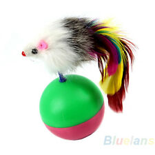 NW Funny Kids Cute Pet Cat Kitten Training Play Toy Mice Mouse Tumbler Ball BI5U
