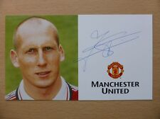 1998-00 Jaap Stam Signed Man Utd Treble Season Club Card (5572)
