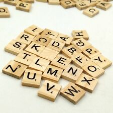 100 Wooden Scrabble Tiles Complete Set For Scrapbooking Handcraft Letter Wedding