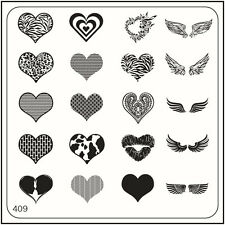 MoYou Nail Fashion Square Image Plate 409 Glam Style Stamping Template