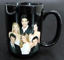 Friends Coffee Mug TV Series Vintage 1996 Official WB Black Cup Large Tall Wide